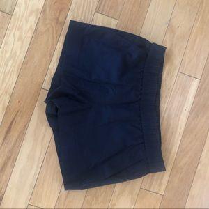 "Navy linen J Crew shorts. 4"" inseam."